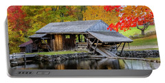 Sawmill Reflection, Autumn In New Hampshire Portable Battery Charger