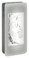 Portable Battery Charger featuring the digital art Sax Girl by ReInVintaged