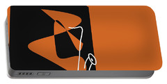 Saxophone In Orange Portable Battery Charger