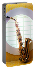 Saxophone In Round Window Portable Battery Charger