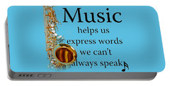 Saxophones Express Words Portable Battery Charger by M K  Miller