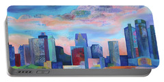 Portable Battery Charger featuring the painting Say Nice Things About Detroit by Shadia Derbyshire