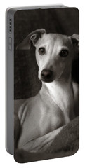 Say What Italian Greyhound Portable Battery Charger by Angela Rath