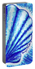 Portable Battery Charger featuring the painting Scallop by Monique Faella