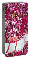 Scapegoat Healing In Fuchsia Portable Battery Charger