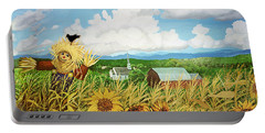 Scarecrow Farm Portable Battery Charger by Bonnie Siracusa