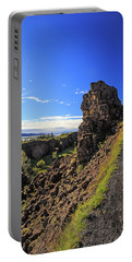 Scared Earth At The Mid-atlantic Rise In Thingvellir, Iceland Portable Battery Charger by Allan Levin
