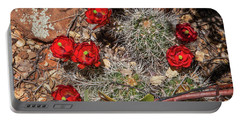 Scarlet Cactus Blooms Portable Battery Charger