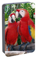Scarlet Macaws Portable Battery Charger by Ellen Henneke