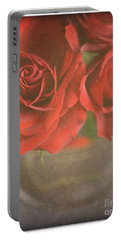 Portable Battery Charger featuring the photograph Scarlet Roses by Lyn Randle