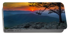 Scarlet Sky At Ravens Roost Portable Battery Charger