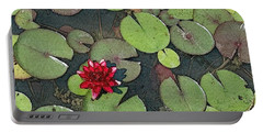 Scarlet Waterlily Portable Battery Charger
