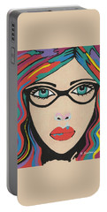 Scarlett - Contemporary Woman Art Portable Battery Charger