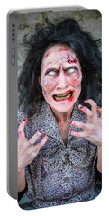 Scary Angry Zombie Woman Portable Battery Charger