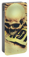 Scary Human Skull Portable Battery Charger