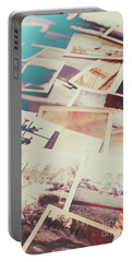 Scattered Collage Of Old Film Photography Portable Battery Charger