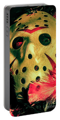 Scene From A Fright Night Slasher Flick Portable Battery Charger