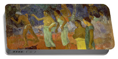 Scene From Tahitian Life Portable Battery Charger by Paul Gauguin