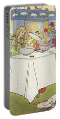 Scene From The Story Of Goldilocks And The Three Bears Portable Battery Charger