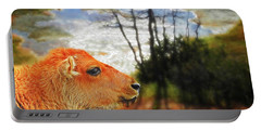 Scenic Buffalo Calf Portable Battery Charger by Suzanne Handel
