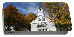 Scenic Church In Autumn Portable Battery Charger