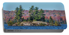 Portable Battery Charger featuring the photograph Scenic Fall View by Paul Freidlund