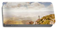 Scenic View Of Mt Zeehan, Tasmania, Australia Portable Battery Charger