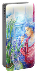 Scent Of Hyacinths Portable Battery Charger