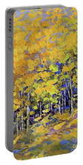 Portable Battery Charger featuring the painting Scented Woods by Tatiana Iliina