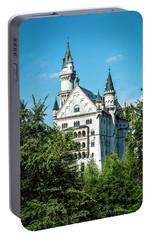Portable Battery Charger featuring the photograph Schloss Neuschwantstein by David Morefield