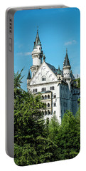 Portable Battery Charger featuring the photograph Schloss Neuschwantstein by David Morefield