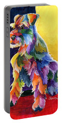 Schnauzer 3 Portable Battery Charger by Sherry Shipley