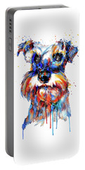 Schnauzer Head Portable Battery Charger by Marian Voicu