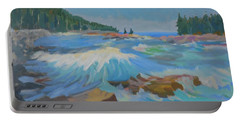 Portable Battery Charger featuring the painting Schoodic Inlet by Francine Frank