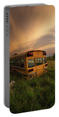 Portable Battery Charger featuring the photograph School's Out  by Aaron J Groen
