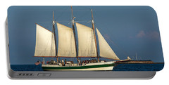 Schooner By Fort Sumter Portable Battery Charger
