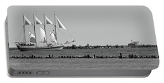 Schooner On Lake Michigan No. 1-1 Portable Battery Charger