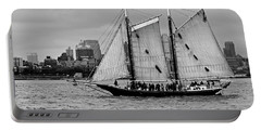 Schooner On New York Harbor No. 1-1 Portable Battery Charger by Sandy Taylor