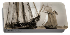 Schooner Pride Of Baltimore And Lynx Portable Battery Charger
