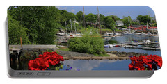 Schooners And Flowers, Camden, Maine Portable Battery Charger