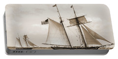 Schooners Pride Of Baltimore And Lynx Portable Battery Charger