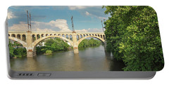 Schuylkill River At The Manayunk Bridge - Philadelphia Portable Battery Charger by Bill Cannon