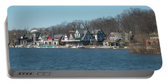 Portable Battery Charger featuring the photograph Schuylkill River - Boathouse Row In Philadelphia by Bill Cannon