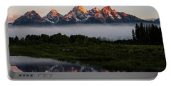 Schwabacher Landing Sunrise Portable Battery Charger by Serge Skiba