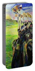 Schwarze Golftasche  Black Golf Bag Portable Battery Charger