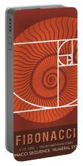 Science Posters - Fibonacci - Mathematician Portable Battery Charger