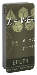 Science Posters - Leonhard Euler - Mathematician, Physicist, Engineer Portable Battery Charger