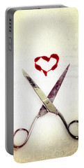 Scissors And Heart Portable Battery Charger