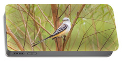 Portable Battery Charger featuring the photograph Scissortail In Scrub by Robert Frederick