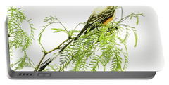 Portable Battery Charger featuring the photograph Scissortail On Mesquite by Robert Frederick